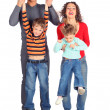 Parents hold children for hands — Stock Photo