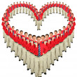 Royalty-Free Stock Photo: Businessmen in red shirts heart collage