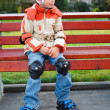 Stock Photo: Boy in rollerblade