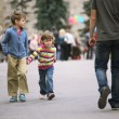 Stock Photo: Walking kids