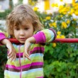 Young girl has a rest in backyard — Stock Photo #7428407