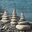 Zen stones by sea — Stock Photo