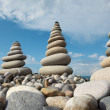 Stock Photo: Stone stacks against sky