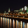 Stock Photo: Kremlin quay at night