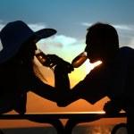日没のシルエット — ストック写真
