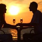 Silhouettes on sunset  — Stock Photo #7429334