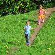 Kids running — Stock Photo