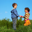 kids holding hands — Stock Photo