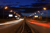Night highway — Stock Photo