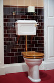 Toilet in old-fashioned style — Stock Photo
