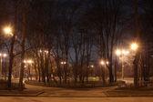 夜の広場 — ストック写真