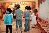 Children on New Year's holiday in kindergarten — Stock Photo
