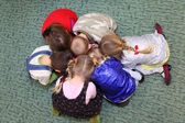 Playing children, top view — Stock Photo