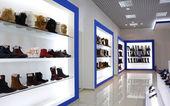 Interior de la zapatería — Foto de Stock