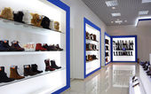 Interior of shoe shop — Stockfoto