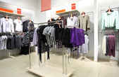 Interior of shop of clothes — Stock Photo