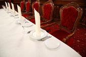 Table in restaurant — Stock Photo