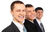 Três empresários rindo — Fotografia Stock