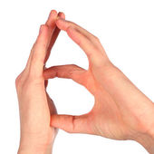 Hand sign language alphabet — Stock Photo
