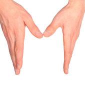 Hand sign language alphabet — Stock Photo