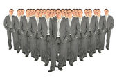 Crowd of business clones collage — Stock Photo