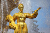 Fountain of friendship of the . Moscow. — Stock Photo