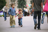 Walking kids — Stock Photo