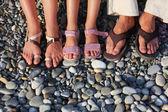 много ног на камнях — Стоковое фото