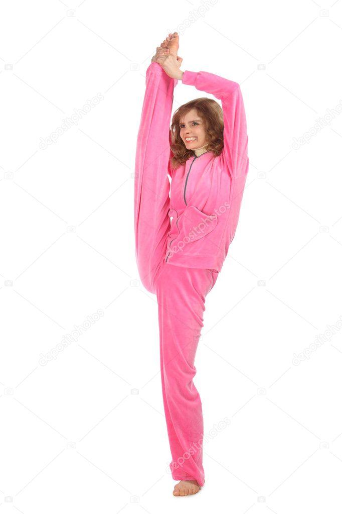 девчонка в розовой одежде