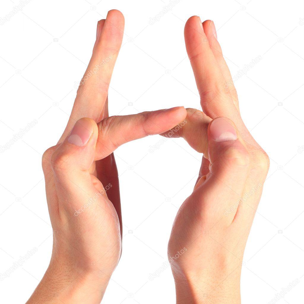 Hand sign language alphabet — Stock Photo © Paha_L #7426094