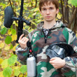 Paintball spelare — Stockfoto #7430174