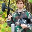Paintball player — Stockfoto #7430174