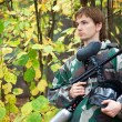 Paintball player — Stockfoto #7430175