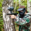 Photo: Paintball player