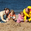 On autumn beach — Stock Photo #7430832