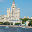 Stock Photo: Stalin high-rise building on Kotelnichesky quay in Moscow. Verti
