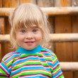 Portrait of the girl on a playground — Stock Photo