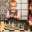 Playing chess — Stock Photo