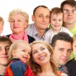 Royalty-Free Stock Photo: Many faces family with children, collage