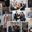 Collection of many business photos with , collage — Stock Photo #7432496