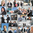 Many business pictures, collage — Stock fotografie