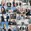 Many business pictures, collage - Stock Photo