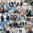 Many business pictures, collage — Foto Stock