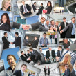 Many business pictures, collage — Foto de Stock