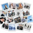 Many business photos, collage — Stock Photo