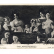 Old post card with prince Chakhowsky family portrait - Stock Photo
