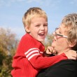Stock Photo: Grandmother with the grandson 2