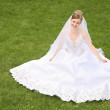 Bride on the grass — Stock Photo