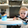 Child on the kitchen — Stock Photo
