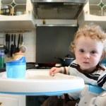 Child on the kitchen — Stock Photo